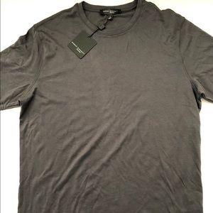 NWT Robert Barakett T Shirt GRAY Cotton Crew Neck